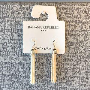 NWT Banana Republic beaded tassel earrings